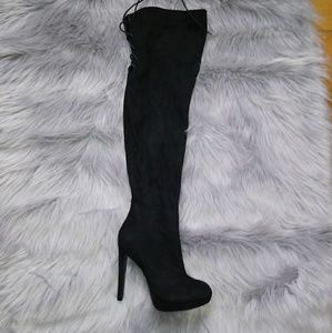 63a43b5460a Charlotte Russe Shoes - Suzanne suede over the knee boots